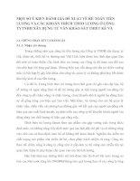 MỘT SỐ Ý KIẾN ĐÁNH GIÁ ĐỀ XUẤT VỀ KẾ TOÁN TIỀN LƯƠNG VÀ CÁC KHOẢN TRÍCH THEO LƯƠNG Ở CÔNG TYTNHH XÂY DỰNG TƯ VẤN KHẢO SÁT THIẾT KẾ VÀ