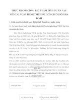 THỰC TRẠNG CÔNG TÁC THẨM ĐỊNH DỰ ÁN VAY VỐN TẠI NGÂN HÀNG TMCP SÀI GÒN CHI NHÁNH BA ĐÌNH