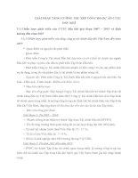 GIẢI PHÁP TĂNG CƯỜNG THU XẾP VỐN CHO DỰ ÁN CTTC DẦU KHÍ