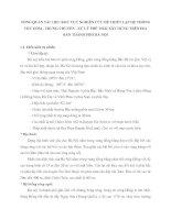 TỔNG QUAN TÀI LIỆU KHU VỰC NGHIÊN CỨU ĐỂ THIẾT LẬP HỆ THỐNG THU GOM - TRUNG CHUYỂN - XỬ LÝ PHẾ THẢI XÂY DỰNG TRÊN ĐỊA BÀN THÀNH PHỐ HÀ NỘI