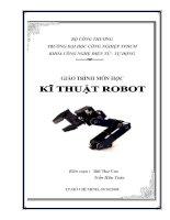 Giáo trình môn học kỹ thuật robot -  Bùi Như Cao  - Trường đh công nghiệp