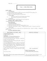 Giáo án Vật lý lớp 6 - Tiết 1: Đo độ dài