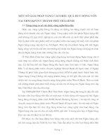 MỘT SỐ GIẢI PHÁP NÂNG CAO HIỆU QUẢ HUY ĐỘNG VỐN TẠI NHNO&PTNT THÀNH PHỐ THÁI BÌNH