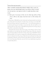 MỘT VÀI KIẾN NGHỊ NHẰM HOÀN THIỆN VIỆC LẬP CÁC BÁO CÁO TÀI CHÍNH HỢP NHẤT TẠI TỔNG CÔNG TY ĐẦU TƯ XÂY DỰNG CẤP THOÁT NƯỚC VÀ MÔI TRƯỜNG VIỆT NAM