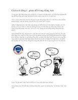 Cách nói đồng ý-phản đối trong Tiếng Anh