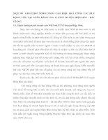 MỘT SỐ  GIẢI PHÁP NHẰM NÂNG CAO HIỆU QUẢ CÔNG TÁC HUY ĐỘNG VỐN TẠI NGÂN HÀNG NNo & PTNT HUYỆN HIỆP HOÀ - BẮC GIANG.