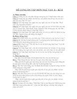 Đề cương ôn tập môn ngữ văn 8 - Kì II