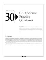 GED Science Practice Questions