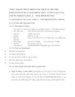 THỰC TRẠNG PHÁT TRIỂN CÁC DỊCH VỤ HỖ TRỢ KHÁCH HÀNG QUA GIAO DỊCH TRỰC TUYẾN TẠI CTCP CHỨNG KHOÁN CHÂU Á