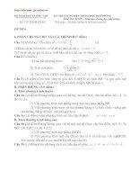Bài soạn Đề tham khảo TN Toán số 5