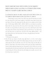 HOÀN THIỆN KẾ TOÁN TIỀN LƯƠNG VÀ CÁC KHOẢN TRÍCH THEO LƯƠNG TẠI CÔNG TY CỔ PHẦN CÔNG NGHỆ ĐIỆN TỬ, CƠ KHÍ VÀ MÔI TRƯỜNG- EMECO