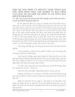 MỘT SỐ GIẢI PHÁP VÀ KHUYẾN NGHỊ NHẰM HẠN CHẾ TÌNH HÌNH TRỤC LỢI NGHIỆP VỤ BẢO HIỂM VẬT CHẤT XE CƠ GIỚI TẠI CÔNG TY CỔ PHẦN BẢO HIỂM PETROLIMEX