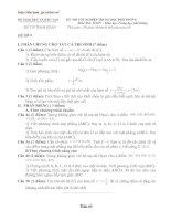 Bài soạn Đề tham khảo TN Toán số 9