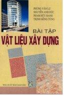 Bài tập vật liệu xây dựng part 1