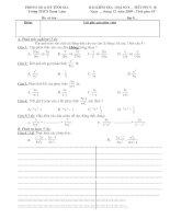 kiểm tra đại số chương II co đáp án nè