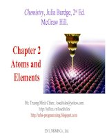 Tài liệu Chapter 2 Atoms and Elements