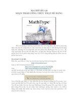 Soạn thảo công thức toán học với Math type 6