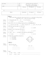 Bài giảng Đề KTĐK lần 1 môn toán lớp 2 năm học 2010 - 2011