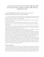 HLÝ LUẬN CHUNG VỀ TỔ CHỨC HẠCH TOÁN KẾ TOÁN VẬT LIỆU VÀ CÔNG CỤ DỤNG CỤ TRONG CÁC DOANH NGHIỆP SẢN XUẤT