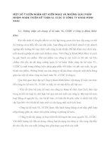 MỘT SỐ Ý KIẾN NHẬN XÉT KIẾN NGHỊ VÀ NHỮNG GIẢI PHÁP NHẰM HOÀN THIỆN KẾ TOÁN VL CCDC Ở CÔNG TY KHOÁ MINH KHAI