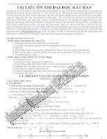 Chuyên đề ôn thi Đại học môn Toán