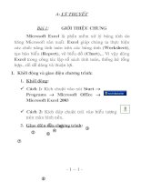 Bài soạn Giao trinh Excel 2003 tron bo - Co bai tap.doc