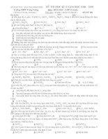 Đề kiểm tra HKII môn hóa học 12 chuẩn THPT Trưng Vương (Mã đề 004)