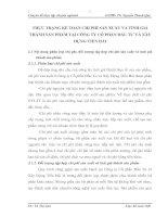 THỰC TRẠNG KẾ TOÁN CHI PHÍ SẢN XUẤT VÀ TÍNH GIÁ THÀNH SẢN PHẨM TẠI CÔNG TY CỔ PHẦN ĐẦU TƯ VÀ XÂY DỰNG TIỀN HẢI