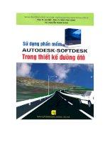 Sử dụng phần mềm Autodesk-Softdesk trong thiết kế đường ô tô