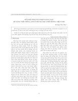 đổi mới phương pháp giảng dạy kĩ năng viết tiếng anh ở trung học phổ thông Việt nam