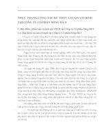 THỰC TRẠNG CÔNG TÁC KẾ TOÁN TÀI SẢN CỐ ĐỊNH TẠI CÔNG TY CỔ PHẦN SÔNG ĐÀ 9