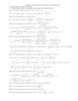 Bài giảng Tích phân hàm số lượng giác