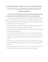 GIẢI PHÁP HOÀN THIỆN CÔNG TÁC THẨM ĐỊNH DỰ ÁN VAY VỐN TẠI NGÂN HÀNG TMCP SAI GÒN CHI NHÁNH BA ĐÌNH