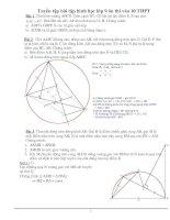 Bài soạn Tuyển tập bài tập hình học lớp 9 ôn thi vào 10 THPT
