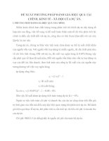 ĐỀ XUẤT PHƯƠNG PHÁP ĐÁNH GIÁ HIỆU QUẢ TÀI CHÍNH, KINH TẾ - XÃ HỘI CỦA DỰ ÁN.