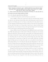 THỰC TRẠNG ÁP DỤNG QUY TRÌNH KIỂM TOÁN KHOẢN MỤC DOANH THU TRONG KIỂM TOÁN BCTC DO CÔNG TY TNHH DELOITTE VIỆT NAM THỰC HIỆN