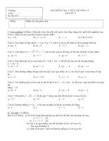 Bài soạn Đề Kiểm tra 1 tiết Chương II Đại số 9
