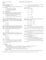Đề kiểm tra 1 tiết  môn vật lý 10