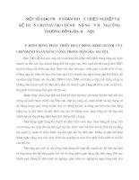 MỘT SỐ GIẢI PHÁP NHẰM HOÀN THIỆN NGHIỆP VỤ KẾ TOÁN CHO VAY TẠI CHI NHÁNH NGÂN HÀNG CÔNG THƯƠNG ĐỐNG ĐA