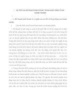 VAI TRÒ CỦA KẾ HOẠCH KINH DOANH TRONG HOẠT ĐỘNG Ở CÁC DOANH NGHIỆP