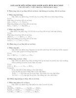 Bài giảng chuyen đề bồi dưỡng hoá học 8 - 9