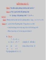 Bài giảng Tiết 43. Phương trình đưa được về dạng ax+ b= 0