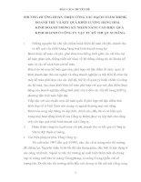 PHƯƠNG HƯỚNG HOÀN THIỆN CÔNG TÁC HẠCH TOÁNCHI PHÍ DOANH THU VÀ KẾT QUẢ KHỐI LƯỢNG HÀNG HOÁ KINH DOANH TRONG KỲ NHẰM NÂNG CAO HIỆU QUẢ KINH DOANH Ở CÔNG TY VẬT TƯ KỸ THUẬT XI MĂNG