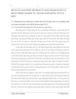 ĐỀ XUẤT GIẢI PHÁP MỞ DỊCH VỤ BAO THANH TOÁN VÀ HOÀN THIỆN NGHIỆP VỤ THANH TOÁN QUỐC TẾ CỦA BIDV