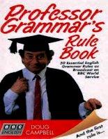 professor grammar ''s rule book