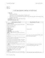 Bài giảng GA 3- Tuan 15-28- TNXH
