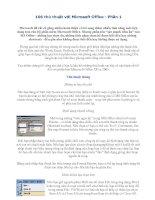 Bài soạn 106 THỦ THUẬT TRONG WORD