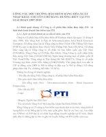 CÔNG TÁC BỒI THƯỜNG BẢO HIỂM HÀNG HÓA XUẤT NHẬP KHẨU CHUYÊN CHỞ BẰNG ĐƯỜNG BIỂN TẠI PTI GIAI ĐOẠN 2007-2010