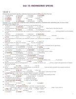 Bài soạn 12 CB UNIT 10 TEST 3