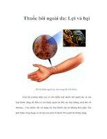 Thuốc bôi ngoài da: Lợi và hại